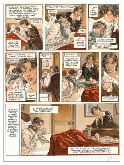 Jean-Pierre GIBRAT JEAN-PIERRE GIBRAT LE SURSIS (T.2) Dupuis 1999 Planche originale...