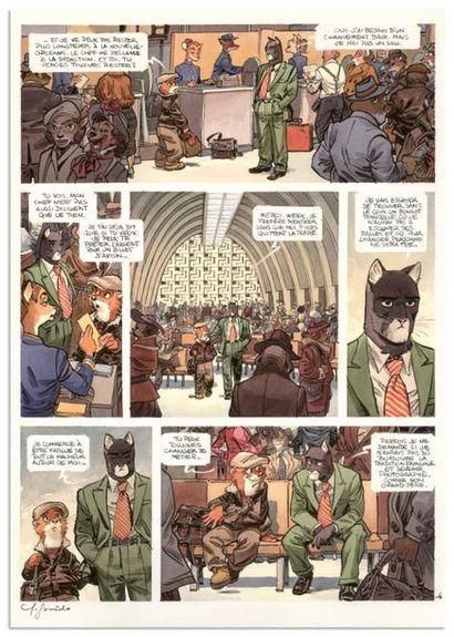 Juanjo GUARNIDO JUANJO GUARNIDO BLACKSAD Amarillo (T.5), Dargaud 2013 Planche originale...
