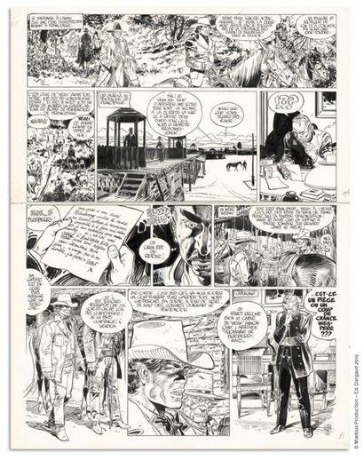 Jean Giraud JEAN GIRAUD BLUEBERRY Le Bout de la piste (T.22), Novedi 1986 Planche...