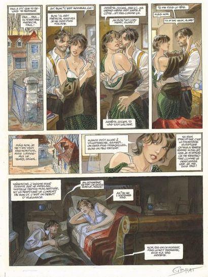 GIBRAT JEAN-PIERRE GIBRAT Le Sursis (T.2), Dupuis 1999 Planche originale n° 9 accompagnée...