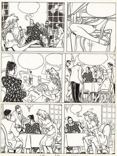 MANARA MILO MANARA Le Parfum de l'invisible, Albin Michel 1986 Planche originale...