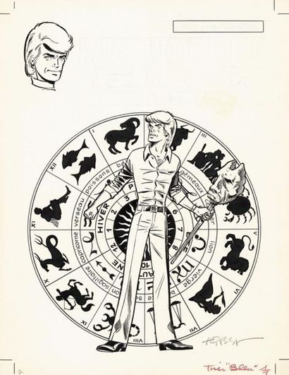 TIBET TIBET RIC HOCHET Les Signes de la peur (T.19), Dargaud 1974 Couverture originale....