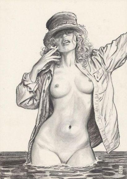 MANARA MILO MANARA Giuseppe Bergman Illustration originale réalisée pour l'exposition...
