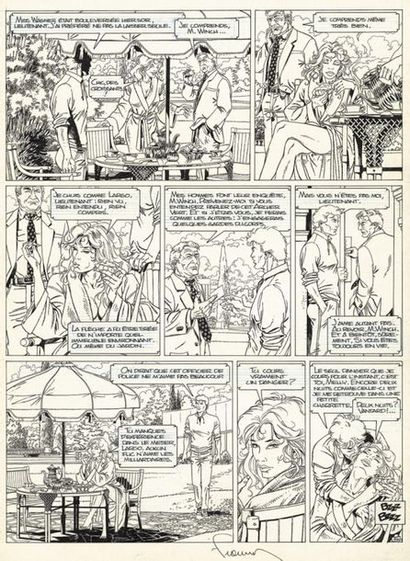 FRANCQ PHILIPPE FRANCQ LARGO WINCH O.P.A. (T.3), Dupuis 1992 Planche originale n°...