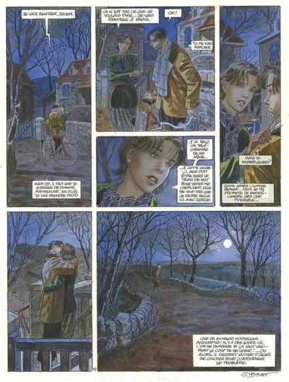 GIBRAT JEAN-PIERRE GIBRAT Le Sursis (T.2), Dupuis 1999 Planche originale n° 17. Signée....