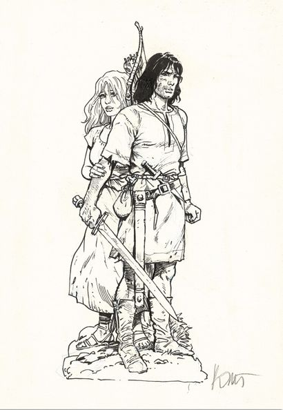 ROSINSKI GRZEGORZ ROSINSKI    THORGAL,  Le Lombard    Original illustration made...
