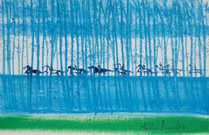 André BRASILIER (né en 1929) Petite Cavalcade...