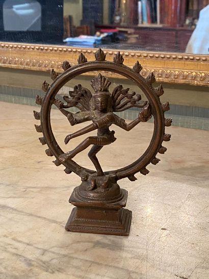 Inde, XXème siècle.  Shiva dansant (Nataraja)...