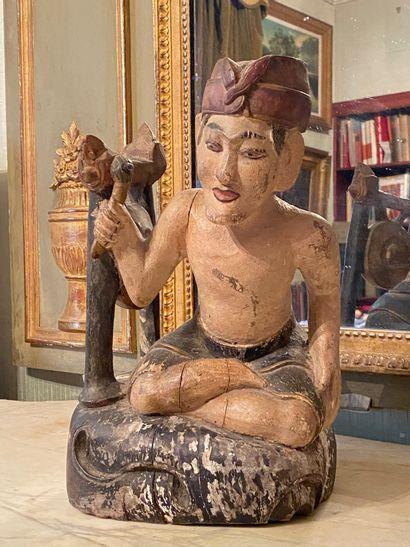 Asie du Sud Est, début XXème siècle.  Statuette...