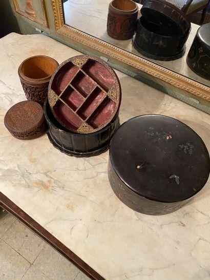 Chine, XXème siècle.  Deux boîtes .  L'une...
