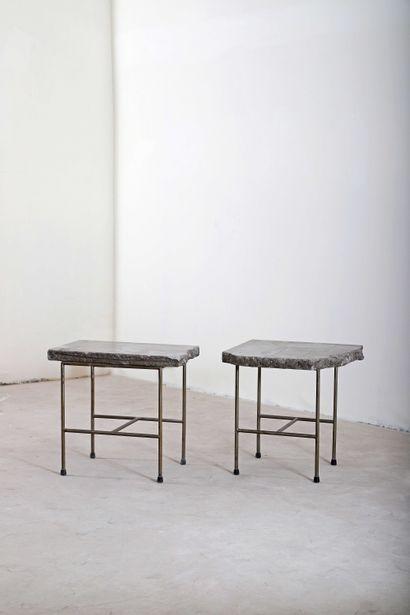 Francesco Passaniti (1952),  Suite de 2 tabourets...