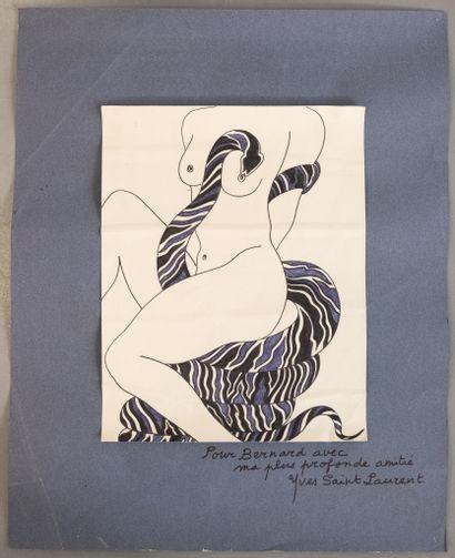 Yves SAINT LAURENT (1936-2008)  Femme nue...