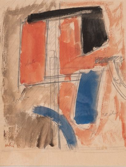 Jean HELION (1904 -1987) Empilage 1933 Aquarelle...