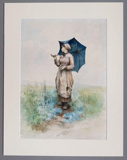 Daniel Ridgway KNIGHT (1839-1924)  Dame à...