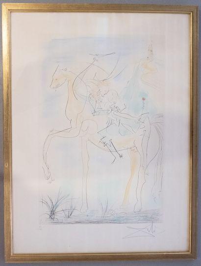 Salvador DALI (1904-1989)  Couple à cheval...