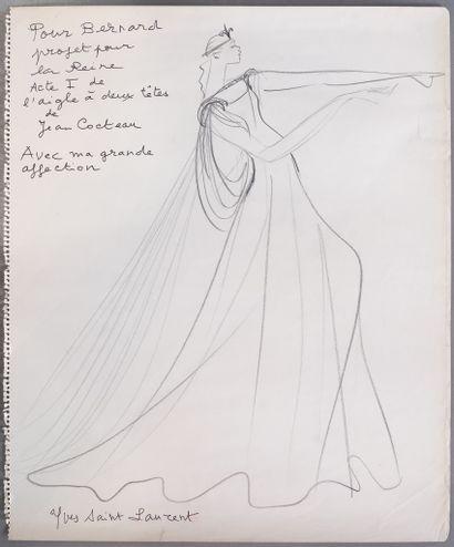 Yves SAINT LAURENT (1936-2008)  Projet pour...