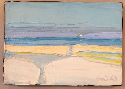 Roger MÜHL ( 1928-2008 )  La plage, ST88....