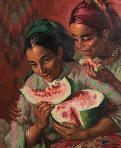 Odette BRUNEAU (1891-1984)  Femmes marocaines...