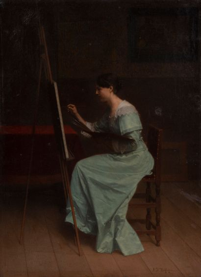 Antoon François HEIJLIGERS (1828-1897)  Femme...