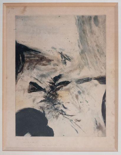 Zao WOU KI (1920 – 2013)  Composition  Estampe...