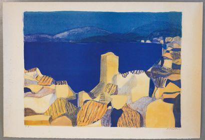 Roger MÜHL (1928-2008 )  Ensemble de 5 lithographies....