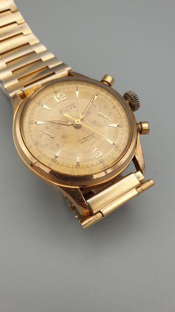 Chronographe Suisse FLUDO vers 1955.  Elégant...