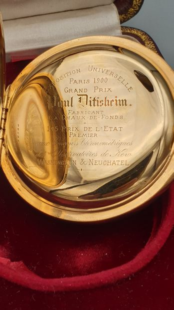 "PAUL DITISHEIM, La Chaux-de-Fonds, ""Grand Prix 1900"", vers 1905. N°35986.  Rare..."