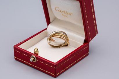 CARTIER  Bague modèle Trinity à trois anneaux,...
