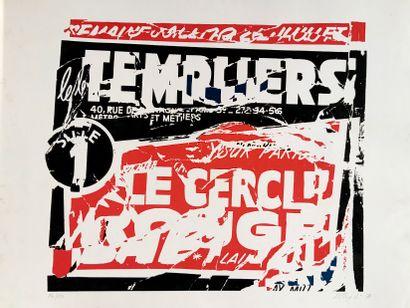 VILLEGLÉ Jacques (1926)  Composition (1971)...