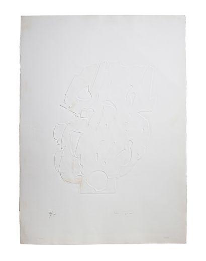 CONSAGRA Pietro (1920-2005)  3 estampes gaufrées...