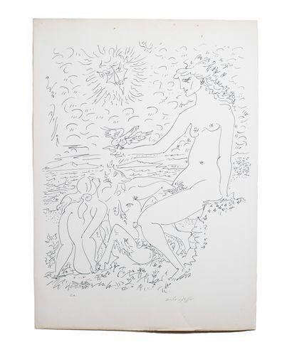 MASSON André (1896-1987)  Lithographie en...