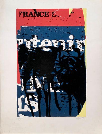 VILLEGLÉ Jacques (1926)  Composition (1967-1971)...