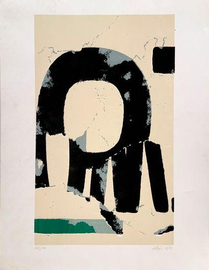 VILLEGLÉ Jacques (1926)  Composition (1963-1972)...
