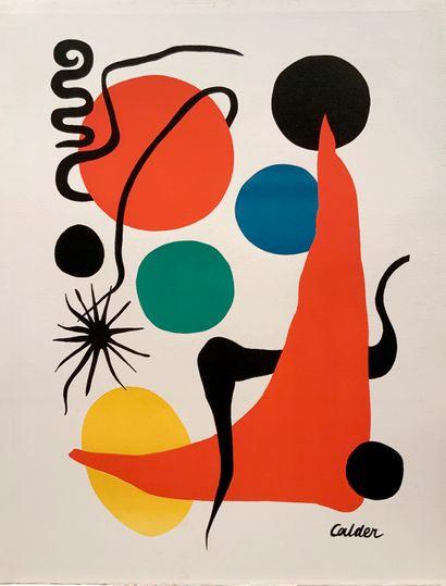 CALDER Alexander (1898-1976)  Lithographie...