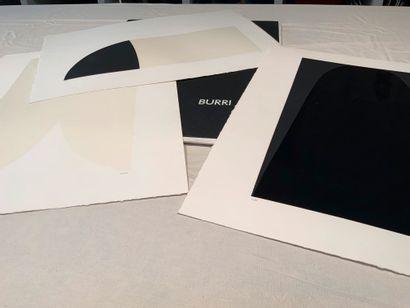 BURRI Alberto (1915-1995)  Grand portfolio sous carton toilé noir comportant 6 lithographies...
