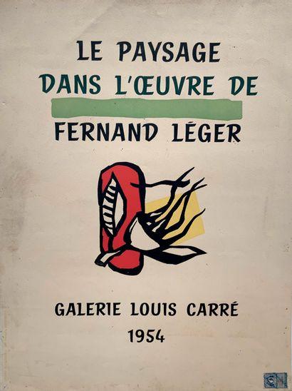 LEGER Fernand (1881-1955)  Le paysage dans...