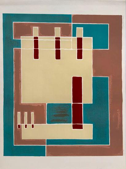 RADICE Mario (1898-1987)  4 sérigraphies...