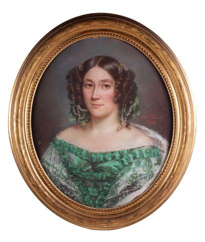 Ecole du milieu du XIXè siècle  Portrait...