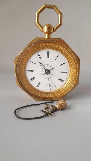 LARZET à Paris, vers 1800  Pendule de carrosse...