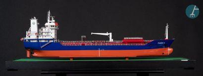 Maquette navire de transport de produits chimiques Maquette du Pakize S., navire...