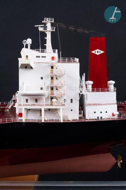 Maquette d'un pétrolier Maquette du Castillo de San Marco Cadiz, Crude Oil Tanker...