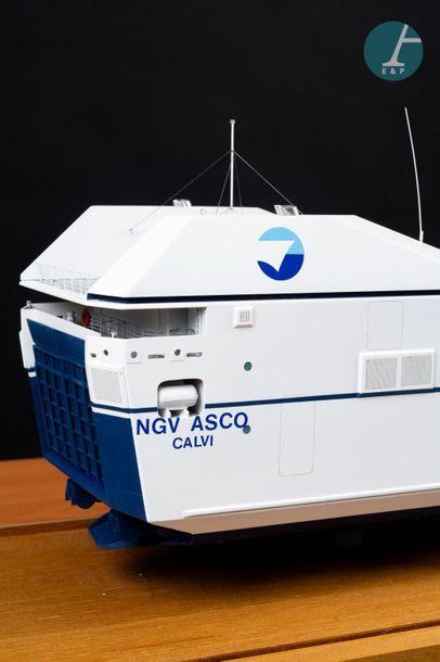 Maquette Maquette du NGV ASCO Calvi, ferry de la SNCM. Ferry à grande vitesse sorti...