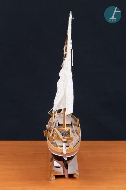 Maquette Leut Maquette du Leut-Sjeverna Dalmacija, navire traditionnel Croate. Long...