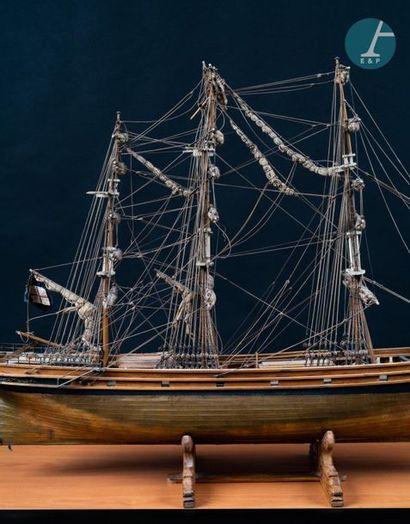 Maquette Maquette moderne en bois d'un trois-mâts « Sark Cutty ». Accidents et manques....