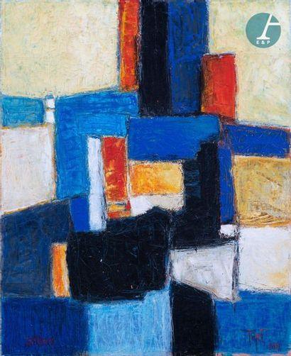 TRIPET Denis-Jean TRIPET (XXe siècle), Salines. Huile sur toile signée TRIPET en...