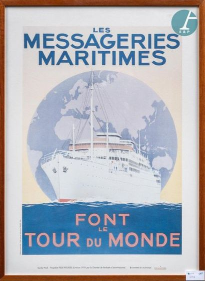 Lot of 11 modern framed posters, composed...