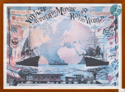 Poster - Framed Rebus Poster Travel around...