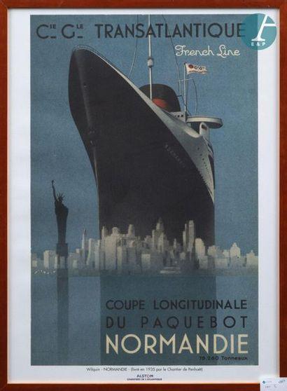 Affiche - Affiche Rébus encadrée Voyage autour du monde round the world de A. SCHINDLER....