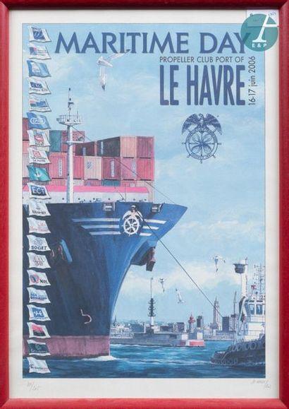 Framed poster Maritime Day Propeller Club...