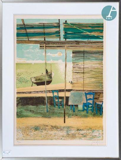 René GENIS (1922-2004) René GENIS (1922-2004), Deux estampes signées en bas à droite....